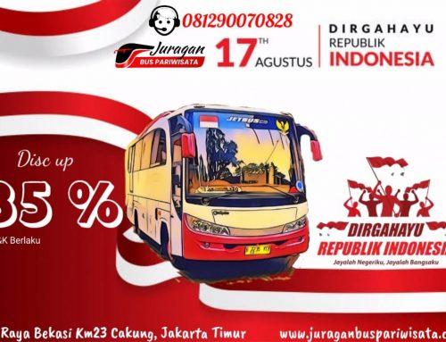 Promo Sewa Bus Pariwisata Kemerdekaan RI 2020