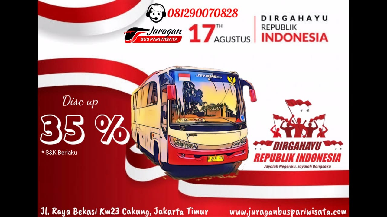 Promo Sewa Bus Pariwisata Kemerdekaan